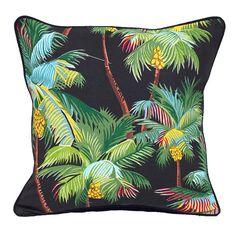 Midnight Paradise Palm Cushion