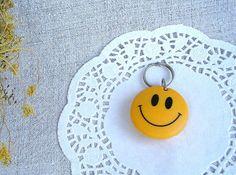 Keychain Bottle Opener Smile / Vintage Collectible by Retrarium