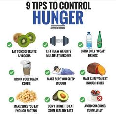 🔽HOW TO CONTROL YOUR HUNGER?🔽 ⠀⠀ Many people find it hard to control their hunger when they are trying to lose weight, and always are… Healthy Fats, Healthy Eating, Healthy Recipes, Healthy Lunches, Detox Recipes, Drink Recipes, Healthy Choices, Nutrition Tips, Fitness Nutrition