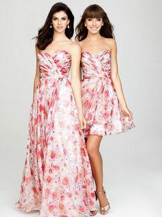 floral print wedding dresses color