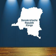 "Wandtattoo ""Demokratische Republik Kongo"" - 9,95€"