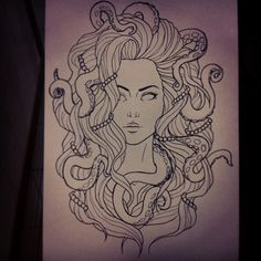 tumblr octopus drawing - Google Search