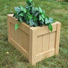 Rectangular Recycled Plastic Garden Planter | Garden Planters | BigPlanters.com $160 Patio Planters, Planter Garden, Outdoor Projects, Outdoor Furniture, Outdoor Decor, Recycling, Plastic, Landscape, Vases