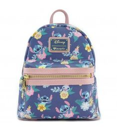 28b0902d016 Loungefly x Stitch   Scrump Floral Print Mini Faux Leather Backpack