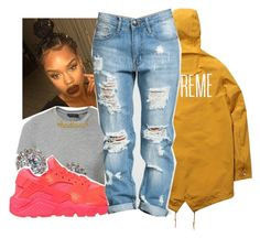 """""""6/24/16"""" by lookatimani ❤ liked on Polyvore featuring New Look, Nadri, NIKE and Kris Nations"""