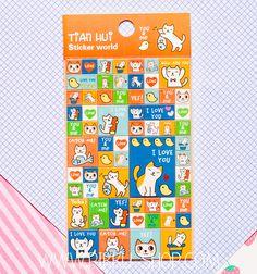 Korean Tian Hui Stickers from Pikku Shop   www.pikku-shop.com   #kawaii #stickers #cat #cute You And I, Love You, My Love, Kawaii Stickers, Cute Stationery, Thats Not My, Korean, Cat, Shop