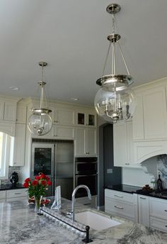 Check out lighting ideas from a kitchen and bathroom featured in the Atlanta Journal-Constitution!