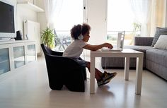 Aepe Chair by Roman Bentley - Bend it, fold it, use it as a pretend shield, use it as a pool floatie, throw it, flex it, fly it… then sit and relax! It's the Aepe Chair and it's the most sensible seating solution for kids! The durable foam design is built to last through endless amounts of playtime. | Yanko Design