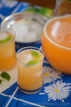 Agua Fresca de Melon | Cantaloupe Cooler