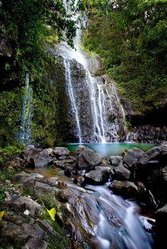 Looking for an awesome mermaid lagoon? Wailua Falls in Hana, Maui, Hawaii