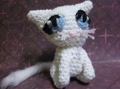 White cat amigurumi crochet cat girl cat ready to by SalemsShop