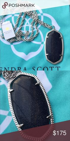 Custom Rae Custom blue goldstone Rae. The hardware is silver and it is NWT. No flaws! May have slight wear on prongs on the back from stone swap. Beautiful, one of a kind piece. Price firm here. Kendra Scott Jewelry Necklaces