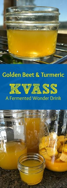 Golden Beet Kvass with Turmeric Powder: This INCREDIBLY healthy tonic drink is great for daily use! Plus it's beautiful! Find out how to make this probiotic fermented drink that is just FILLED with health and medicinal benefits!