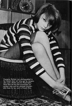 Françoise Dorléac by Jacques Serge, 1960s.