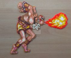 A recent commission of Dhalsim performing Yoga Flame move. Sprite taken from Super Street Fighter 2 on SNES Super Street Fighter 2 Dhalsim Commission Hama Beads Patterns, Beading Patterns, Perler Bead Art, Perler Beads, Super Street Fighter 2, Pixel Beads, 8 Bit Art, Art Perle, Pixel Art Templates