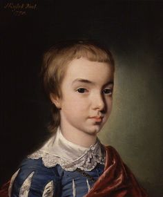 William Wilberforce by John Russell, 1770. This portrait of Wilberforce at eleven years old wearing 'Van Dyck' costume was painted in his aunt's house in Wimbledon. The artist John Russell described him as 'sweet young Wilberforce' and said that even at this early age he had the 'appearance of conversion upon his soul.'