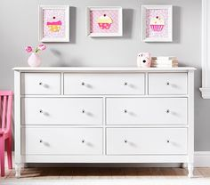 The easy charm of vintage cottage furniture is captured in the Juliette Collection. Each piece is carefully crafted, like the bed featuring curved molding, lathe-turned feet and a headboard with wood plank details. Like all of our furniture, the c… Girl Room, Girls Bedroom, Bedroom Ideas, Bedroom Designs, Extra Wide Dresser, Baby Dresser, Dresser Mirror, Cottage Furniture, Baby Furniture