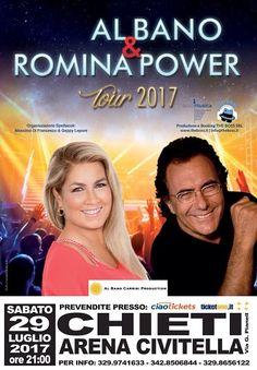 Al Bano e Romina Power in concerto a Chieti il 29 luglio