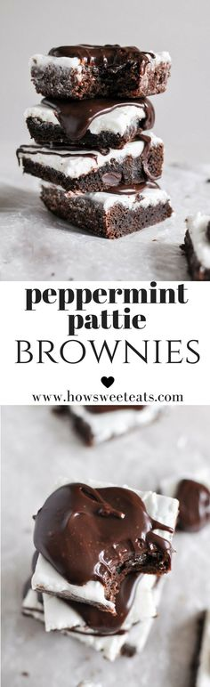 Peppermint Pattie Brownies by @howsweeteats I howsweeteats.com