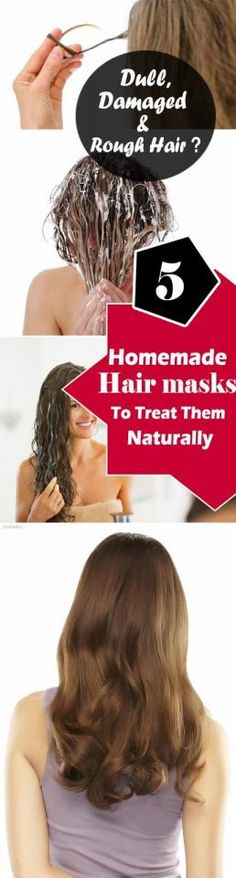 5 Homemade Natural Hair Masks To Treat Dull, Dry, Rough And Damaged Hair #Beauty #Trusper #Tip