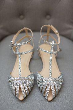 Silver Sparkle Zara Flats