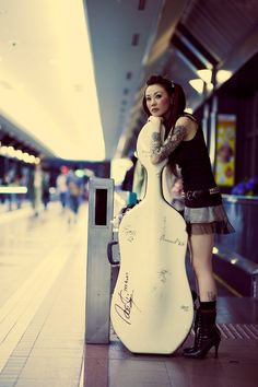 Cellist at the train station
