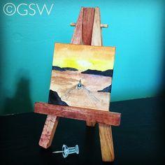 365 Days of Mini Paintings. Day 211! #boat #silhouette #rocks #waves #sunrise #wake #aquarelle #bestofwatercolor #inspiring_watercolors #talentedpeopleinc #waterblog #365project #365challenge #365mini by gswatercolor