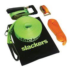 slackers 50-Feet Slackline Classic Set with Bonus Teachin...
