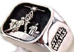 Solid Sterling Silver 925 STAR WARS Ring ALL Size by blackmore5253, $70.00