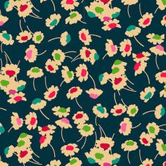 Liberty of London House Designer - Bloomsbury Gardens - Dance in Magenta Teal