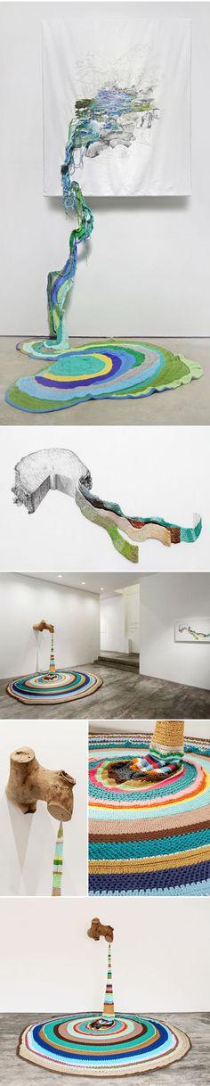 mixed media installation by ana teresa barboza ♥️