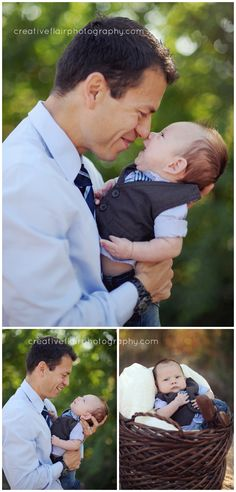 Dad and baby outdoor family photography poses | Creative Flair Photography | El Paso, TX