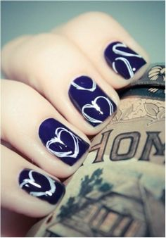Heart shape nail art