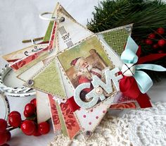 Lovely Christmas star mini book