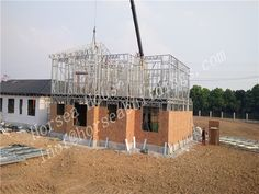 Light solution can save period, more fast than brick because it can be rapid and practical assembly without highly skilled labour or specialist equipment. Prefab, Second Floor, Steel Frame, Period, Brick, Villa, China, Flooring, Building