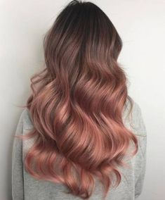 The Rose Gold Hair Color Had Been Up-And-Comming For The Spring 2019 Hair Season, However This Season Features A Rose Gold Balayage. Balayage Is. Ombre Hair Color, Hair Color Balayage, Rose Gold Balayage Brunettes, Haircolor, Balayage Hairstyle, Men's Hairstyle, Rose Hair Color, Balayage Long Hair, Balayage Ombre