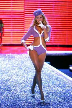 How To Do The Sexy Halloween Costume, According To Victoria's Secret #refinery29  http://www.refinery29.com/victorias-secret-halloween-costume-ideas#slide-12  Sexy StewardessThis outfit is not only iconic because it glorifies a wardrobe that otherwise consists of a blazer with shoulder pads, but also Karolina Kurkova's shoe fell off seconds after this photo was taken....