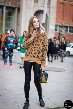 Milan Fashion Week FW 2014 Street Style: Tilda Lindstam - STYLE DU MONDE | Street Style Street Fashion Photos