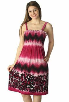 Sakkas 81D3-5240DJ Leopard Print Lightweight Smocked Bodice Sleeveless Knee Length Dress - Ombre Leopard Magenta / M Sakkas,http://www.amazon.com/dp/B00CC2K144/ref=cm_sw_r_pi_dp_7jyvtb0X9FAN1ESS