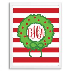 Holiday Wreath Monogram
