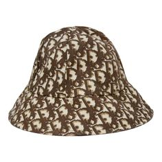 8aafbd04578 1970 s Christian Dior Cotton Monogram Bucket Hat
