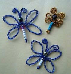 pipe cleaner butterflies- with beads...great tutorial