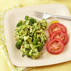 Broccoli and Tortellini Salad with Arugula Pesto