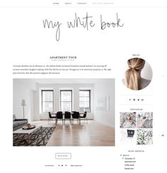 NEW My white book Blogger Template  Responsive by HelloManhattan