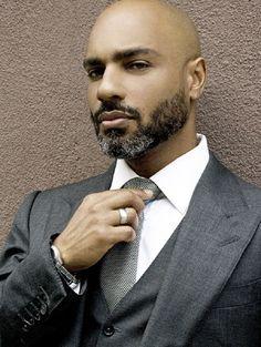 beardedandblack:    Bearded.  Black.  Bald.  Business suit.