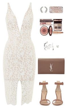 """""""Sin título by mdmsb featuring Bardot, Gianvito Rossi, Yves Saint Laurent, Charlotte Tilbury y Nanette Lepore Summer Fashion Outfits, Dressy Outfits, Night Outfits, Cute Fashion, Stylish Outfits, Girly Outfits, Fashion Dresses, Fashion Looks, Polyvore Outfits"""