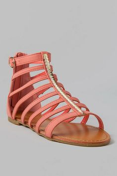Briela Gladiator Sandal in Coral