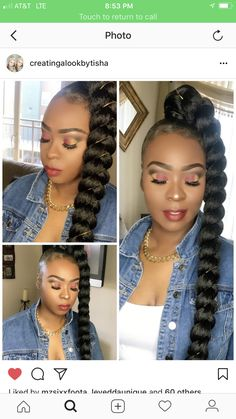 Braids With Bead Embellishments - 40 Best Big Box Braids Hairstyles Braided Ponytail Black Hair, Hair Ponytail Styles, Side Braid Ponytail, Sleek Ponytail, Braids For Black Hair, Curly Ponytail Weave, Side Ponytails, Big Box Braids Hairstyles, Black Ponytail Hairstyles