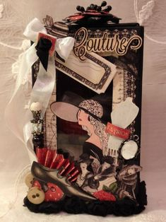 Love the details on this Couture matchbook box by Anne! That layering and composition is gorgeous #graphic45