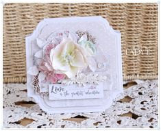 Scrap Art by Lady E: Wedding Card & The Rose Avenue Collection
